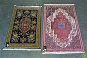Sale 8515 - Lot 1013 - Two Non-Matching Woollen Rugs (104 x 70cm & 94 x 61cm)