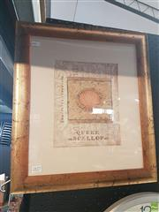 Sale 8563T - Lot 2177 - S. Healy Queen Scallop Framed Mixed Media SLR