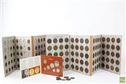 Sale 8586 - Lot 245 - Two Australian Coin Albums of Pennys & Half Pennys (incomplete), together with 1986 Uncirculated Coin Set and various coins