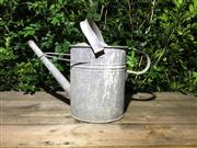 Sale 8706A - Lot 59 - A galvanised water can, general wear, marks, some slight denting, H 35cm inc handle