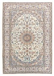 Sale 8800C - Lot 47 - A Persian Nain Silk Inlaid Wool On Cotton Foundation, 200 x 293cm