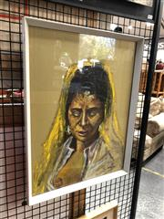 Sale 8856 - Lot 2025 - Artist Unknown The Yellow Scarf 1964 mixed media on paper, 53 x 41cm, signed and dated lower right
