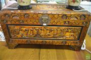 Sale 8289 - Lot 1092 - Carved Camphor Chest