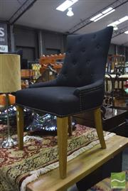 Sale 8326 - Lot 1630 - Pair of Black Monte Chairs