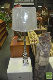 Sale 8331 - Lot 1035 - Pair of Large Metal Table Lamps (5752)