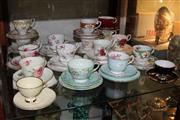 Sale 8360 - Lot 123 - Shelley Melody Trio with Others Incl Royal Albert American Beauty