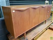 Sale 8607 - Lot 1027 - Chiswell Teak Sideboard (H: 78 W: 167 D: 43cm)