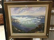 Sale 8720 - Lot 2052 - L. M. Cluwen - Megalong Valley (from Medlow Bath) oil on canvas board, 50 x 60cm, signed lower left