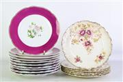 Sale 8931B - Lot 671 - Set OF Ten Victorian Painted Plates (Some Chips)  Incl Four Worcester Examples, Together With Six Chester Marked Plates (Dia 23cm)