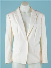 Sale 9027F - Lot 49 - A Hugo Boss blazer with two faux front pockets in cream. size M