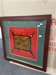 Sale 9082 - Lot 2083 - Chinese School, Untitled, mixed media on board, frame: 59 x 59 cm, stamped lower right -