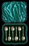 Sale 7810 - Lot 13 - Set of Boxed Silver Apostle Teaspoons