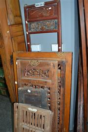 Sale 8013 - Lot 1160 - Collection of Assorted Oriental Timber Panels