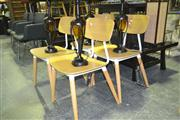 Sale 8165 - Lot 1068 - Set Of Four White Alpine Chairs