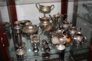 Sale 8151 - Lot 83 - Silver Plated Tea Wares & an Engraved Trophy