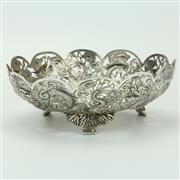 Sale 8417 - Lot 55 - Chinese Silver Dish by Tien Shing