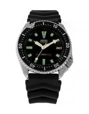 Sale 8618A - Lot 50 - A vintage Seiko, black dial 7002 7000 stainless steel men's dive wristwatch;