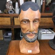 Sale 8758 - Lot 51 - Plaster Bust with Glass Eyes