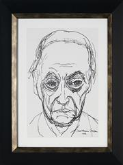 Sale 8908A - Lot 5051 - Desiderius Orban (1884 - 1986) - Self Portrait, 1966 29 x 20 cm