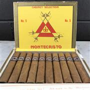 Sale 9042 - Lot 631 - Montecristo No.5 Cuban Cigars - box of 10, stamped September 2015