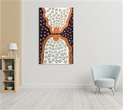 Sale 9092A - Lot 5060 - Nola Bennett - Irriya 158 x 96 cm (stretched and ready to hang)