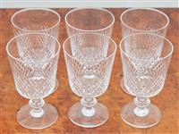 Sale 9090H - Lot 35 - A set of quality cut glassware comprising six wine glasses, Height 11cm