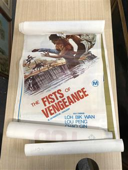 Sale 9180 - Lot 2054 - 5 Vintage Movie Posters incl Private Benjamin, The Fists of Vengeance etc