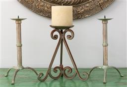 Sale 9191H - Lot 80 - Collection of three candle holders, tallest 30 cm