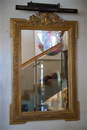 Sale 7984 - Lot 20 - Period gilt framed mirror with Acanthus to pediment, 122 x 75cm