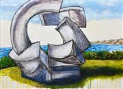 Sale 8565A - Lot 5065 - Stanley Perl (1942 - ) - Sculpture by the Sea 76.5 x 101.5cm