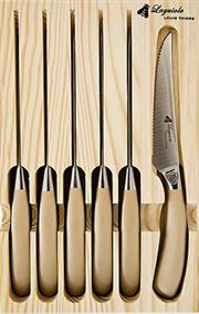 Sale 8372A - Lot 47 - Laguiole by Louis Thiers Mondial 6-Piece Steak Knives in Rose Gold Finish RRP $180
