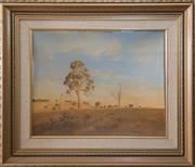 Sale 8375A - Lot 119 - Les Graham - Last Hour of the Day (Five Day Creek) 39 x 49 cm