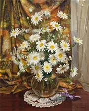 Sale 8475 - Lot 547 - Reg Campbell (1923 - 2008) - Still Life Daisies 74.5 x 59.5cm