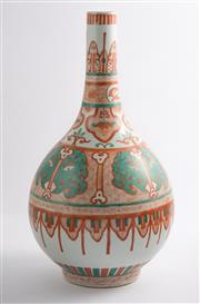 Sale 8536 - Lot 52 - A Kang Hsi style red and green vase, decorated with archaic style beast pattern. Kangxi mark to base, H 40cm