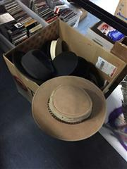 Sale 8659 - Lot 2208 - Box of Hats with Boots incl Australian Sailors Hat