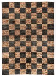 Sale 8780C - Lot 286 - A Striped Afghan Chobi Naturally Dyed In Hand Spun Wool, Very Suitable To Australian Interiors, 247 x 180cm