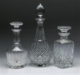 Sale 9093 - Lot 52 - Royal Doulton Highclere crystal wine decanter (H35.5cm) together with a Stuart Crystal decanter (H25.5cm) and another
