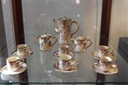 Sale 7977 - Lot 94 - Soko China Satsuma Coffee Set with Wisteria Pattern
