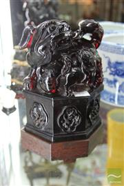 Sale 8217 - Lot 75 - Chinese Resin Foo Dog Figural Group