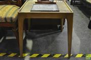 Sale 8305 - Lot 1043 - Mid Century Butcher Block Top Side Table