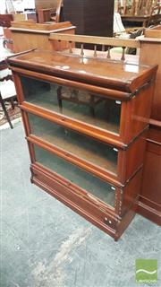 Sale 8375 - Lot 1040 - Globe Wernicke Mahogany Stacking Bookcase, in three sections