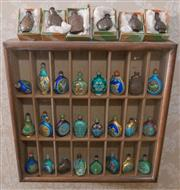 Sale 8375A - Lot 120 - A large quantity of snuff bottles displayed in a timber display case, H 46cm