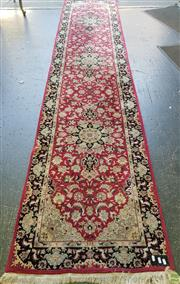 Sale 8566 - Lot 1747 - Pink and Black Tone Hall Runner (374 x 77cm)