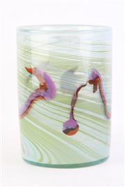 Sale 8796 - Lot 45 - Signed Art Glass Vase by Keith Rowe (Height: 22cm, Diameter: 16cm)