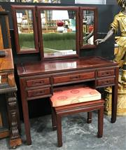 Sale 8805 - Lot 1002 - Rosewood Dresser and  Stool