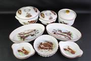 Sale 8827 - Lot 46 - Royal Worcester The English Game Dinner Serving Wares