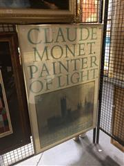 Sale 8833 - Lot 2073 - Claude Monet Art Gallery of NSW Exhibition Poster -