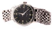 Sale 8937 - Lot 427 - A VINTAGE OMEGA SEAMASTER 30 WRISTWATCH; in stainless steel with black dial, center seconds, 17 jewel manual movement no. 10975079,...