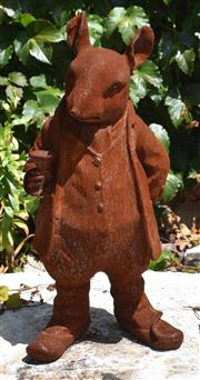 Sale 8950G - Lot 83 - Cast iron ratty from wind in the willows 44cm height