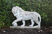 Sale 8972H - Lot 53 - An old terrazzo Lion, Height 56cm x Width 74cm